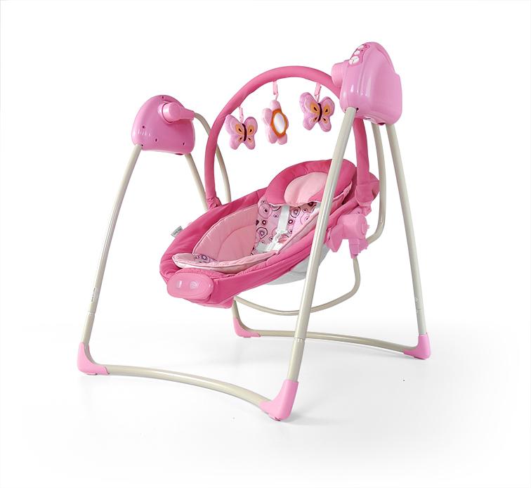 rozowa-hustawka-dla-niemowlaka